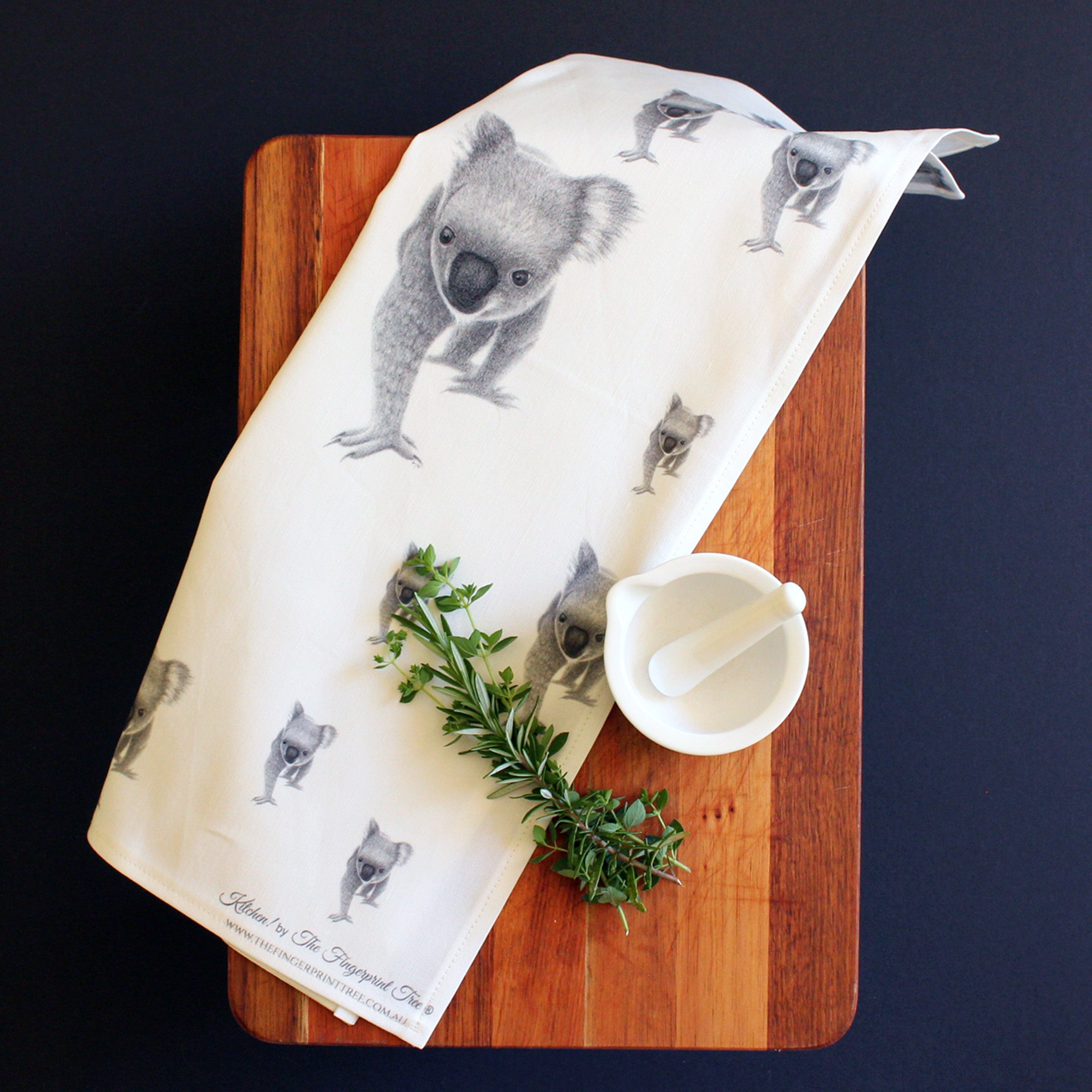Koala tea towel