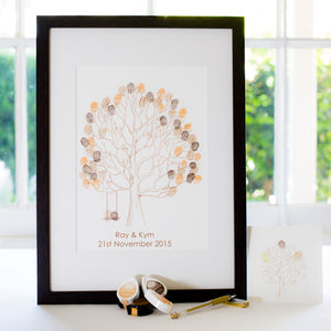Lovebirds brown + swing guestbook