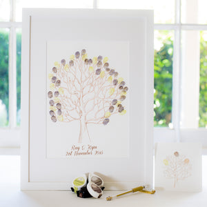 Lovebirds brown guestbook
