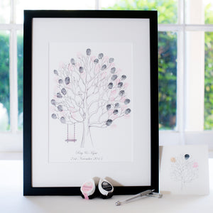 Lovebirds + swing guestbook