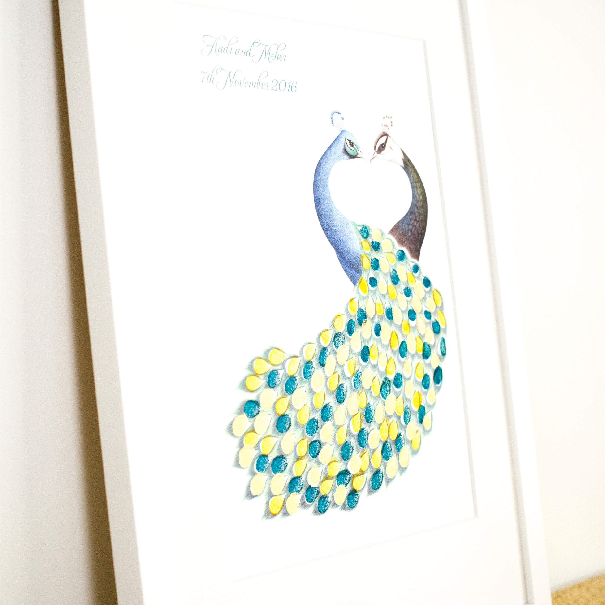 Peacock & Peahen guestbook