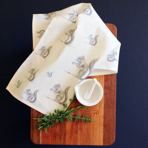 Squirrel tea towel