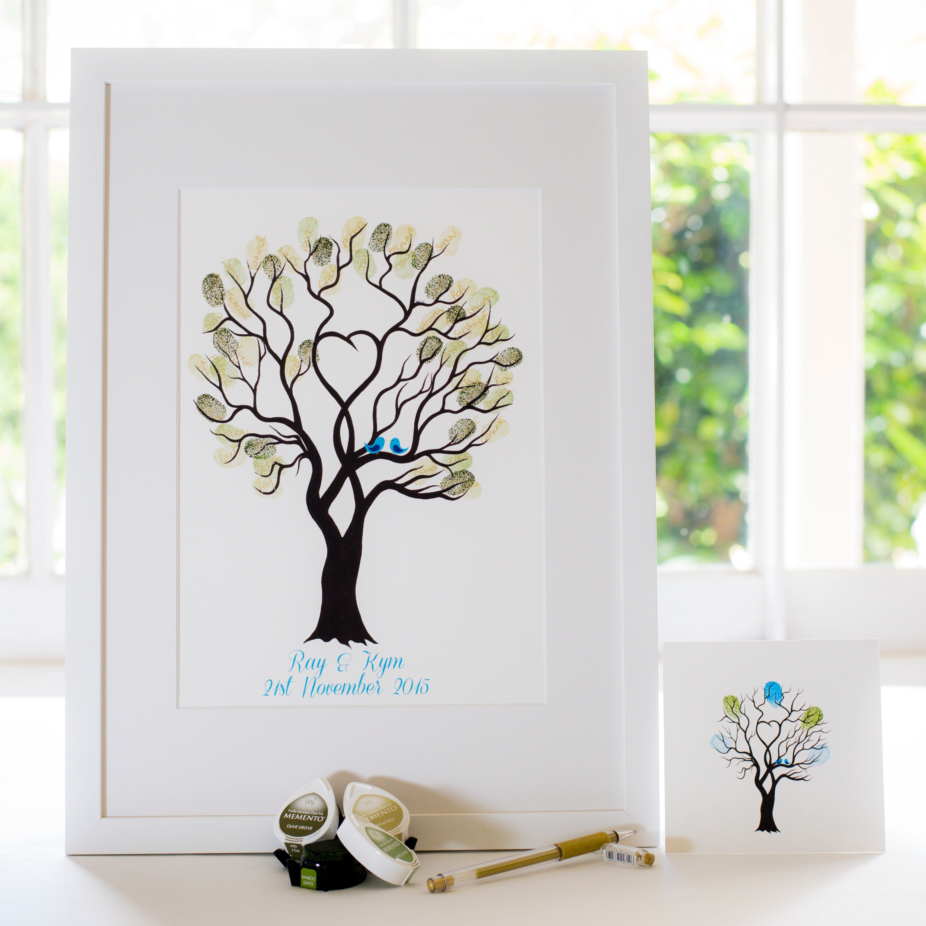 Unity tree Blue birds guestbook