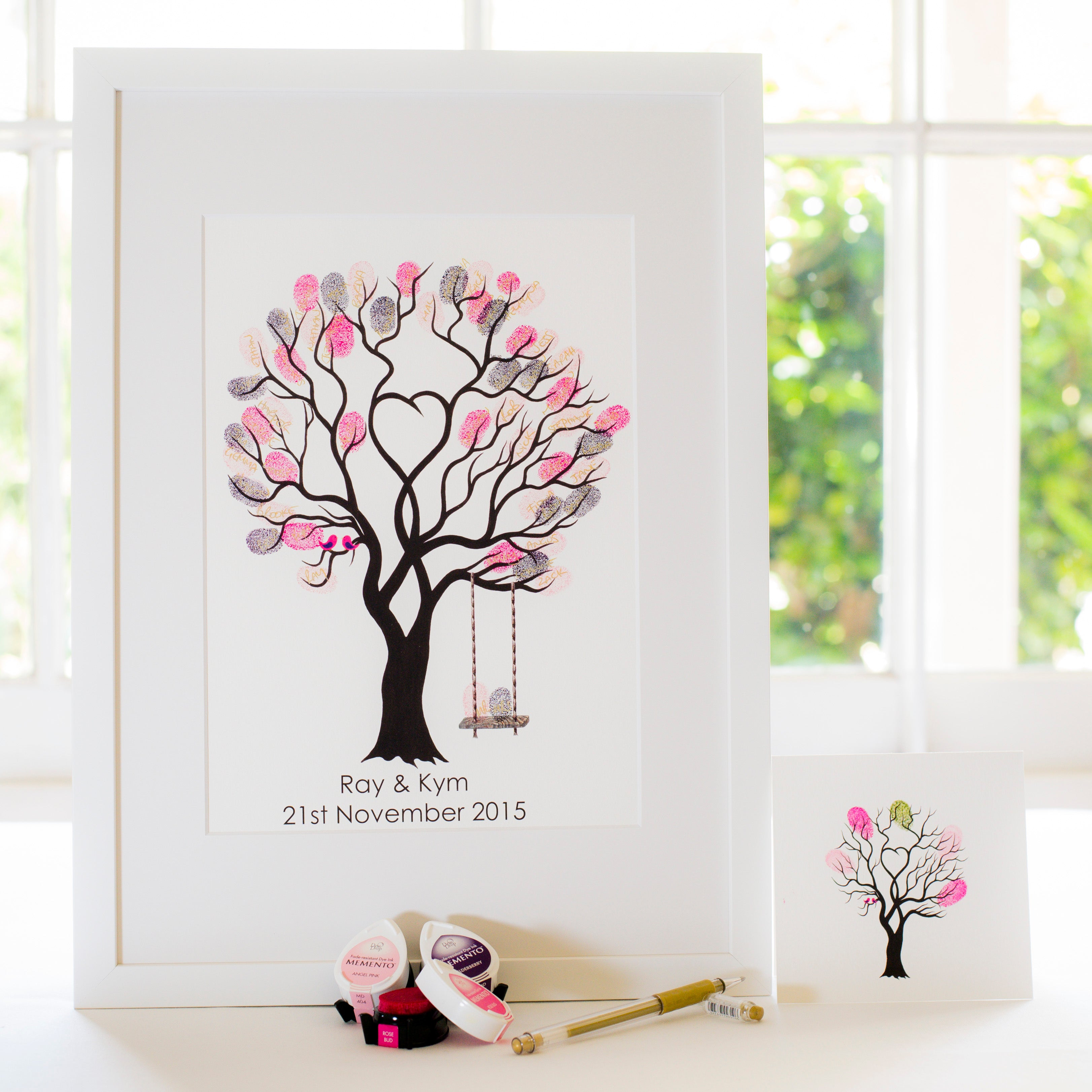 Unity tree Pink birds + swing guestbook