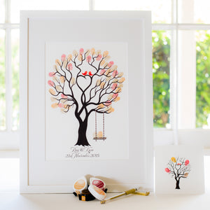 Unity tree Red birds + swing guestbook