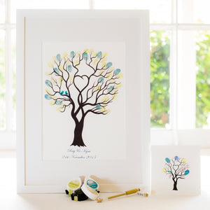 Unity tree Teal birds guestbook