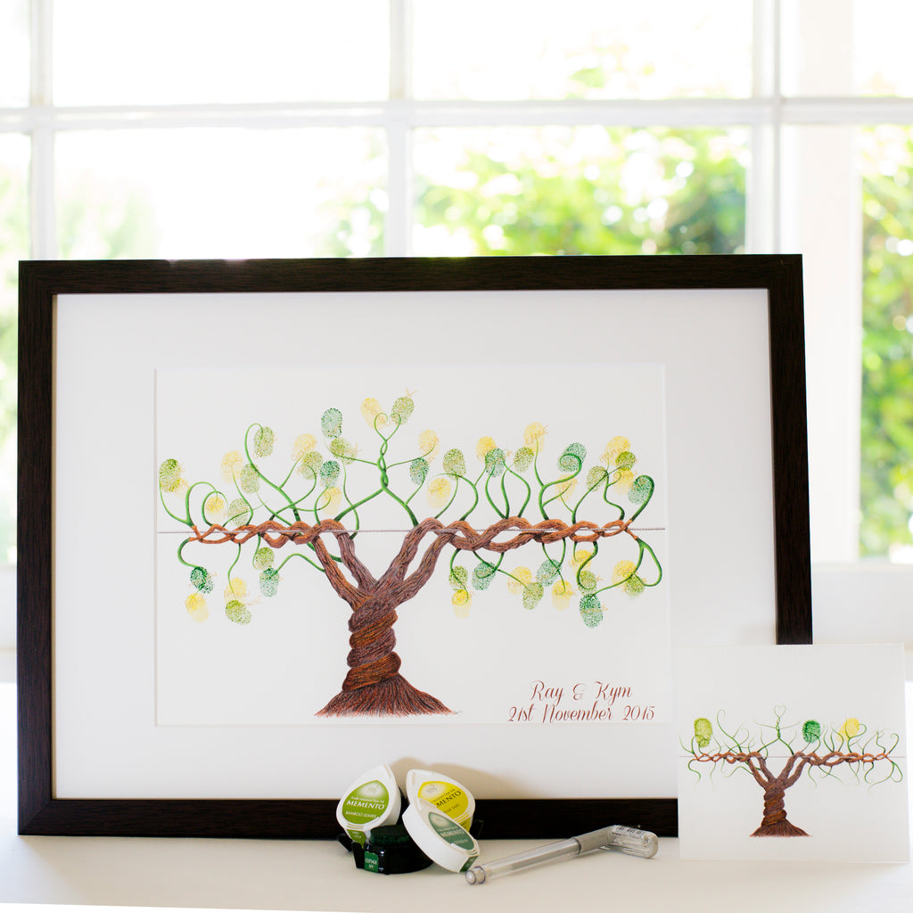 Winery vine guestbook