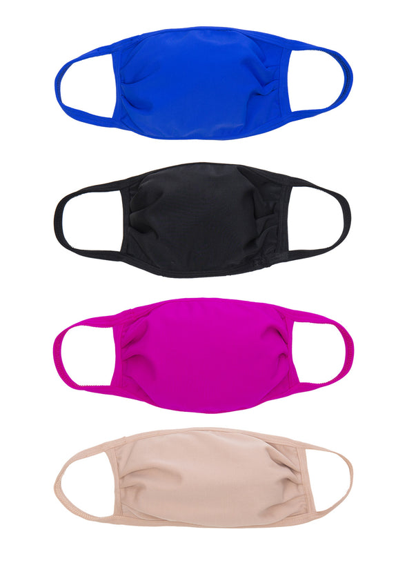 4 Pack | Triple Layer | Girls Face Masks