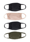 4 Pack | Triple Layer | Womens Face Masks