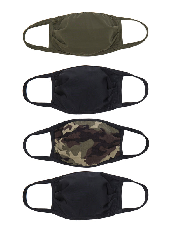 4 Pack | Triple Layer | Mens Face Masks