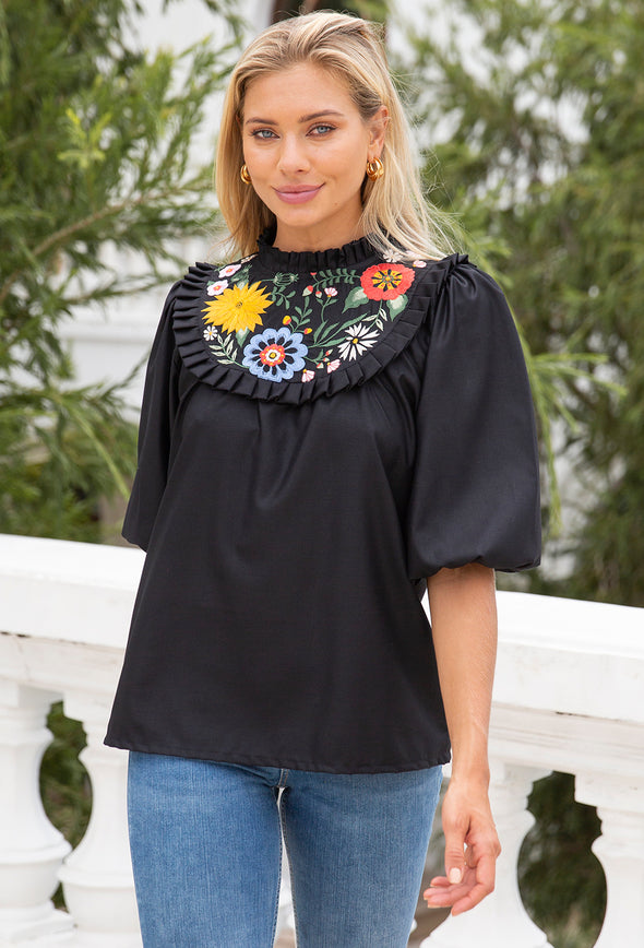 Emily Embroidered Top
