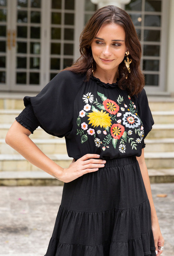 Jessica Embroidered Top