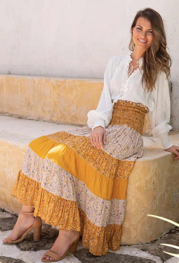 Sabina Panelled Skirt