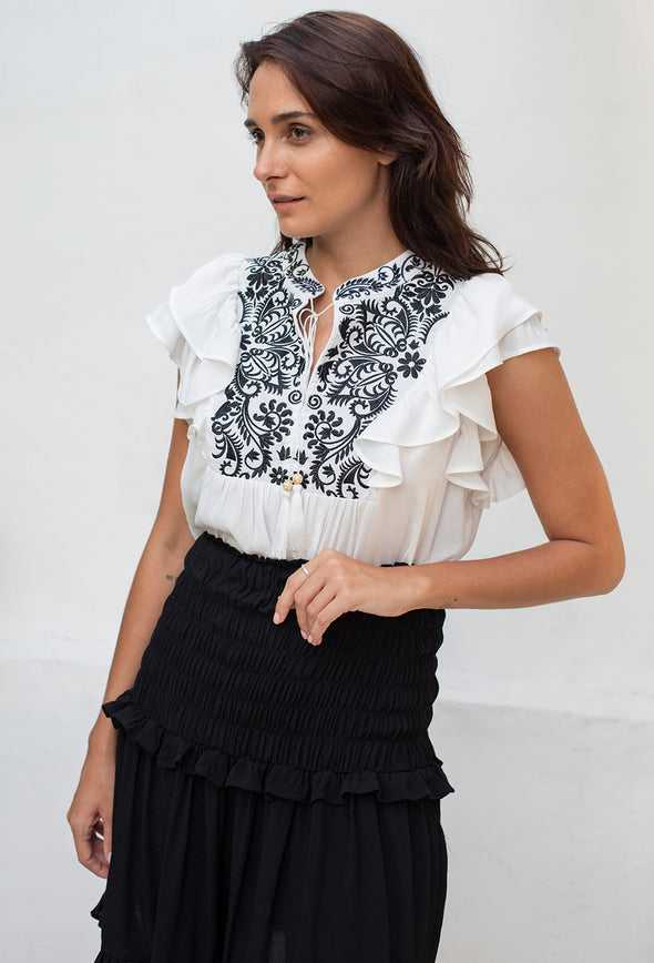 Jasmine Embroidered Top