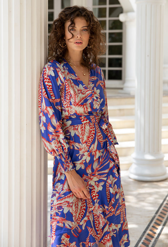 Grace Wrap Dress with Sleeves
