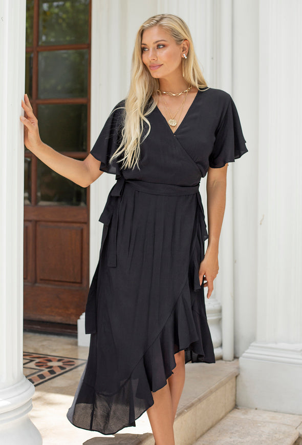 Madison Short Sleeve Wrap Dress