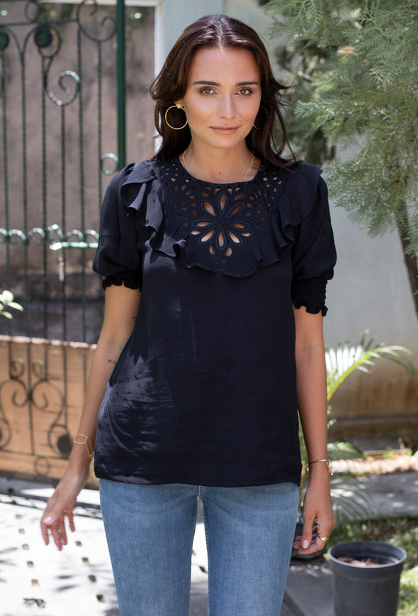 Evie Embroidered Top