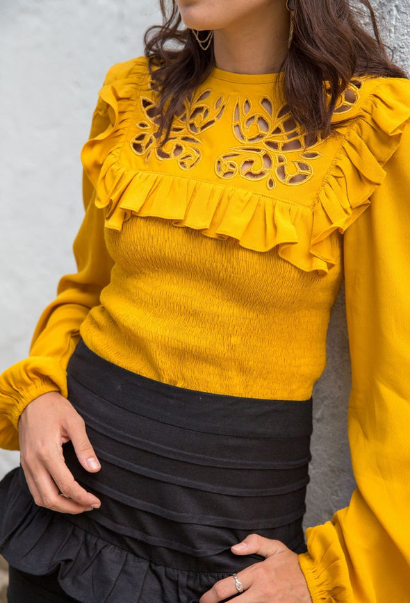 Brooke Embroidered Top