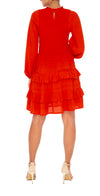 Alanna Frill Dress with Sleeves