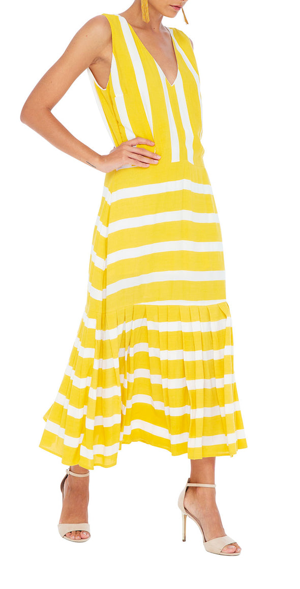 Mia Stripe Midi Dress