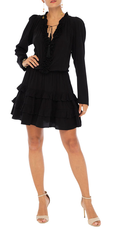 Elizabeth Long Sleeve Frill Dress