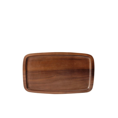 Nordic Tray 30cm Walnut Tea Tray (Natural)