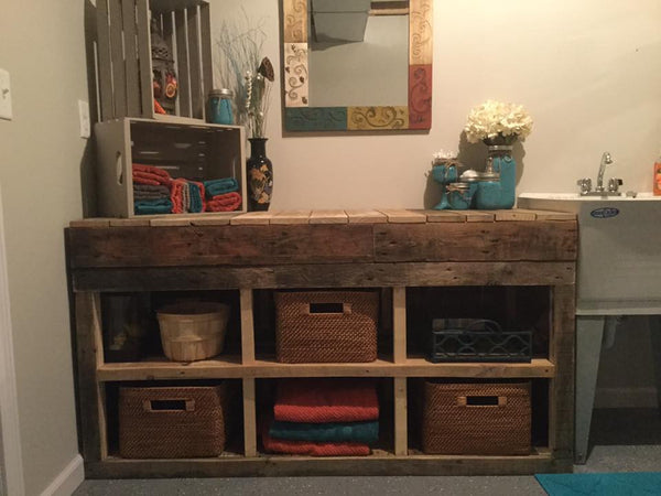 Rustic Pallet Cubbies