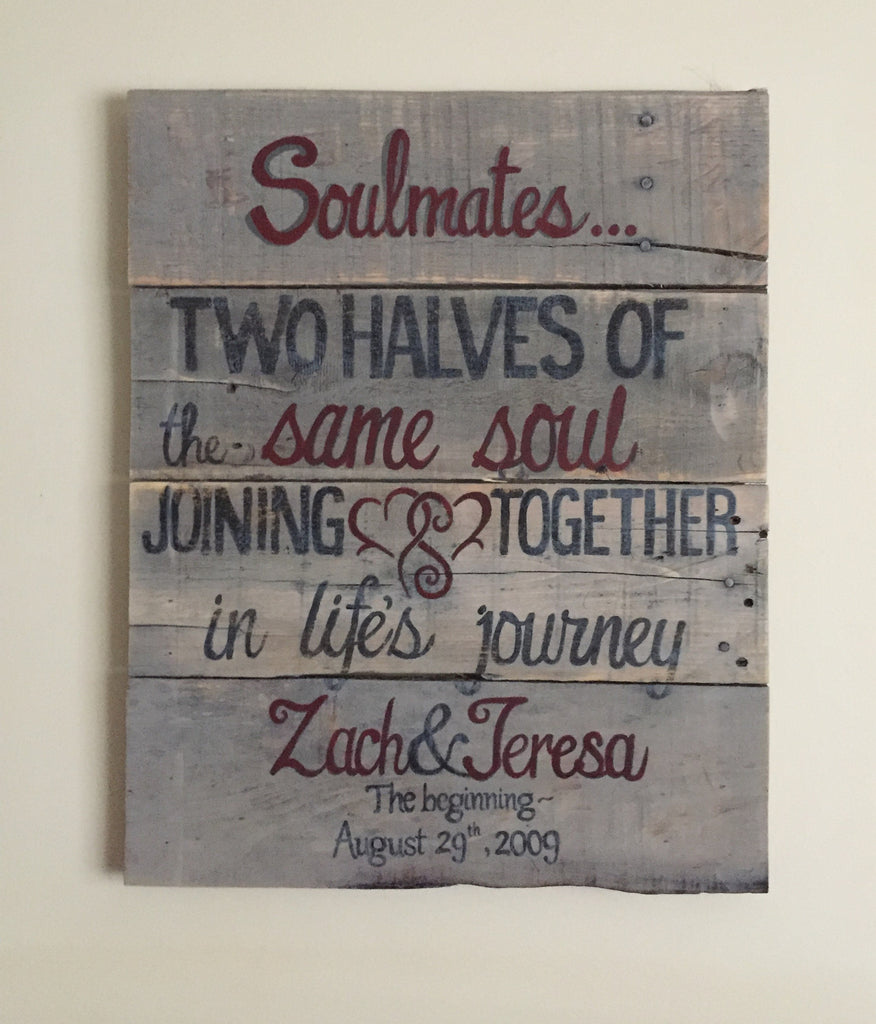 Soulmates Personalized Sign