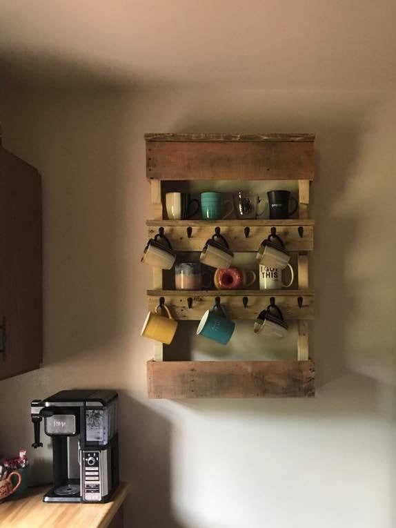 "Coffee Mug Shelf ""Sarah"""