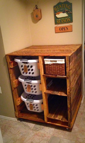 Laundry Basket Dresser with Shelves (Ashley)
