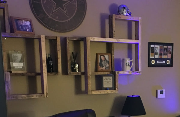 3D Square Wall Shelves