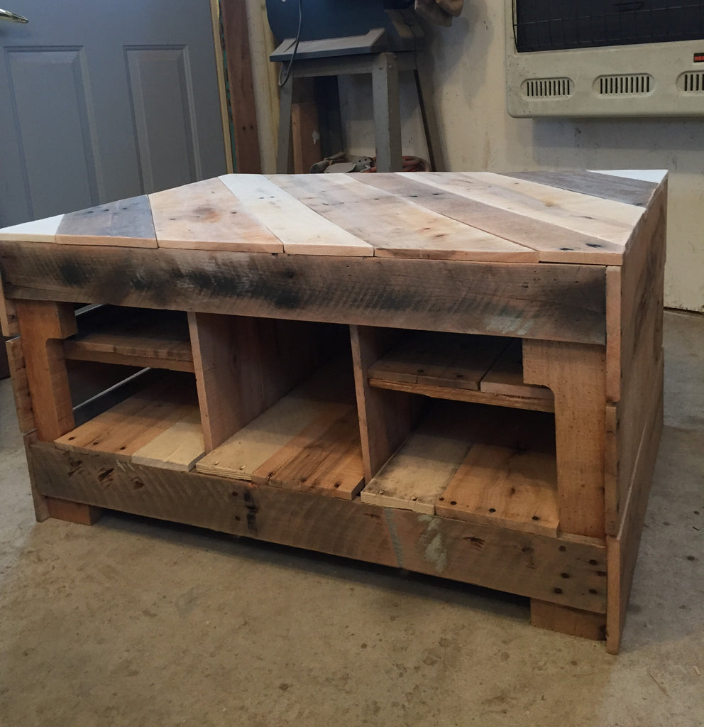 Coffee Table (enclosed with shelving)