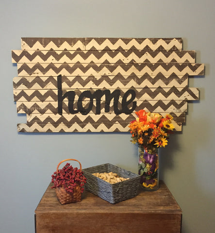 Chevron Home Sign (staggered)