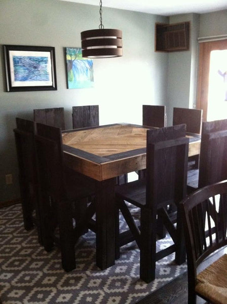 "High Top Kitchen Table (9 Piece Set) ""Jill"""