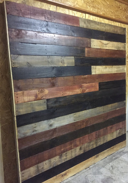 "Staggered Pallet Headboard (king size) ""Missy"""