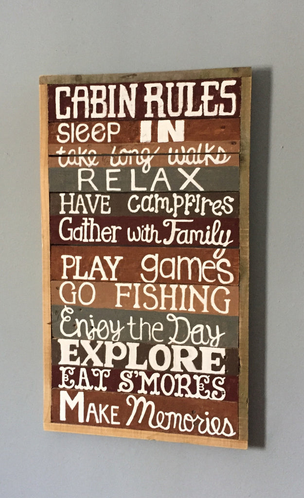 Cabin Rules Sign