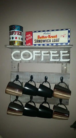 Coffee Mug Holder with Shelf