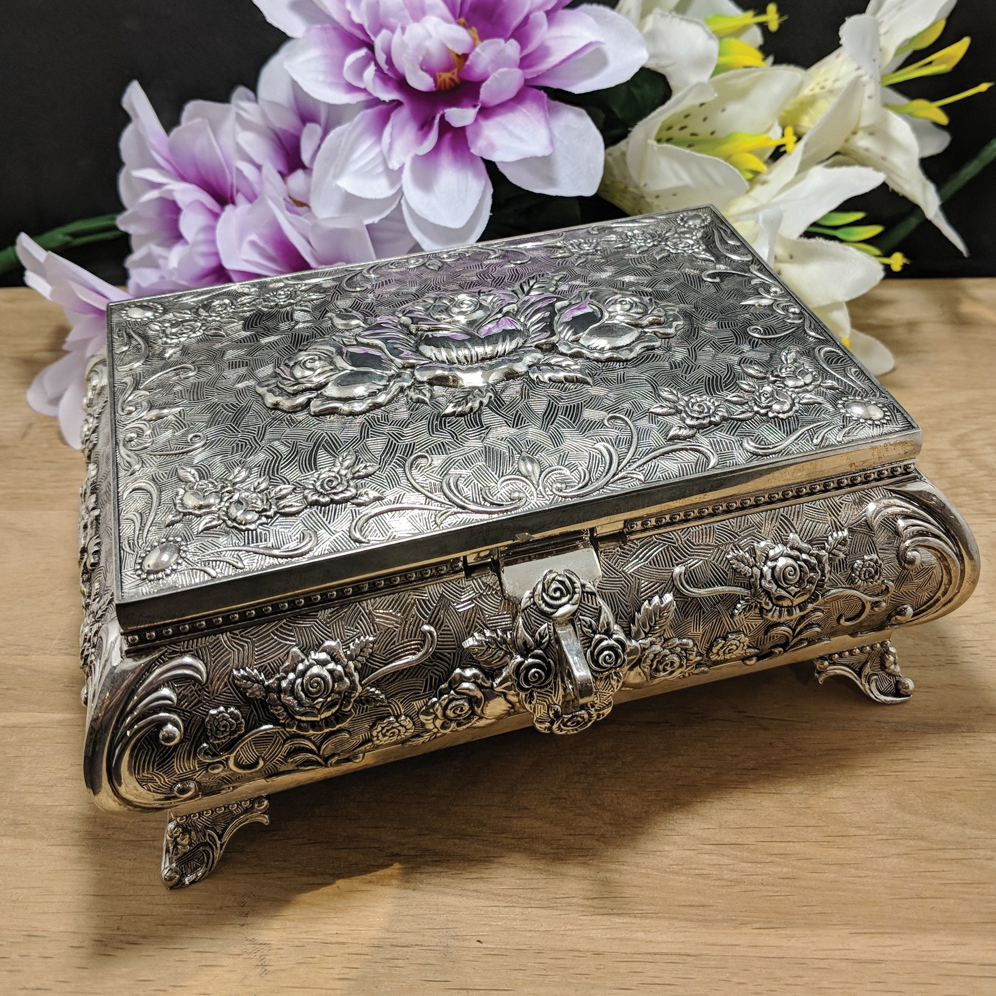 Queen Anne Extra Large Pewter Jewellery Box - HR QA Series