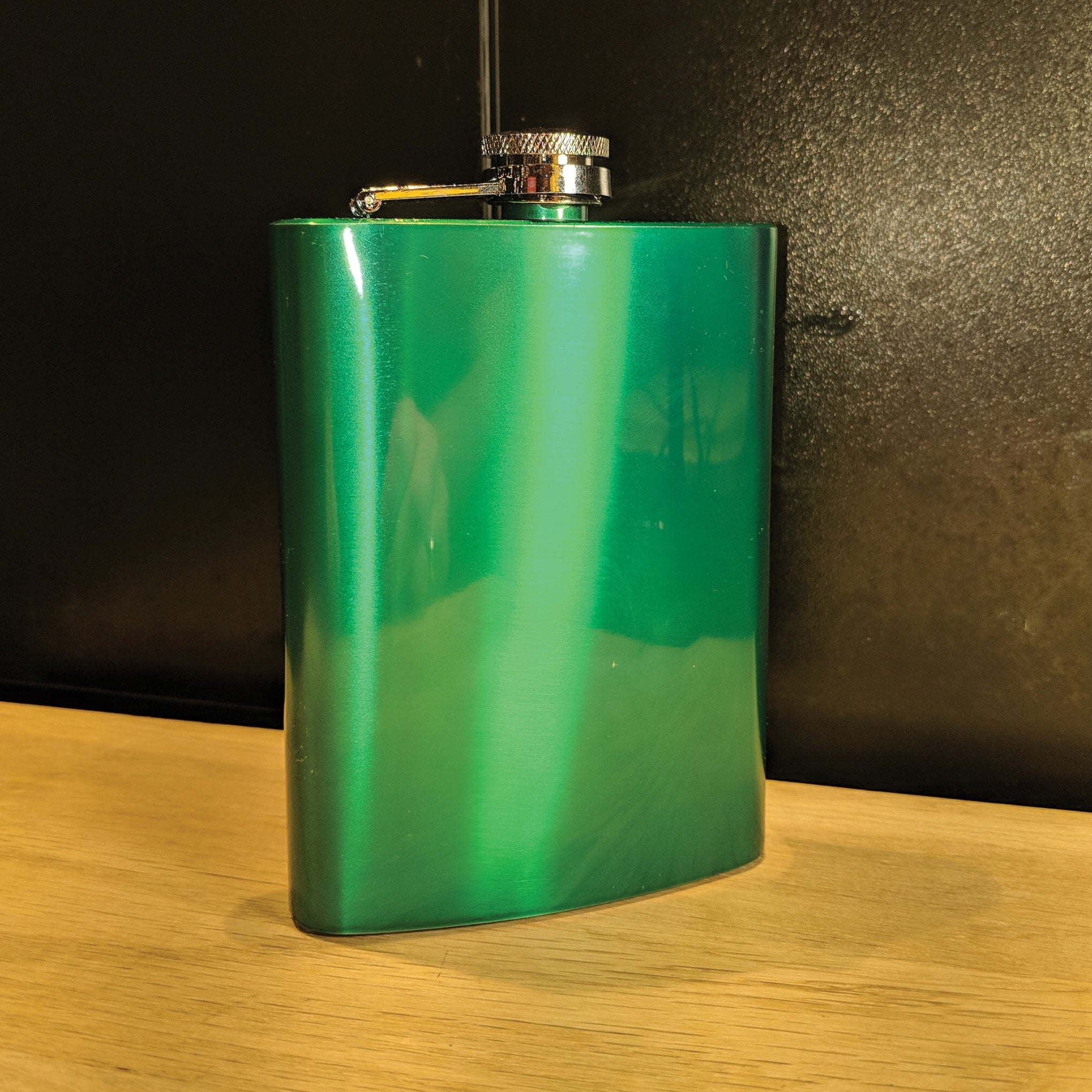 Lunar Green 8oz Hip Flask