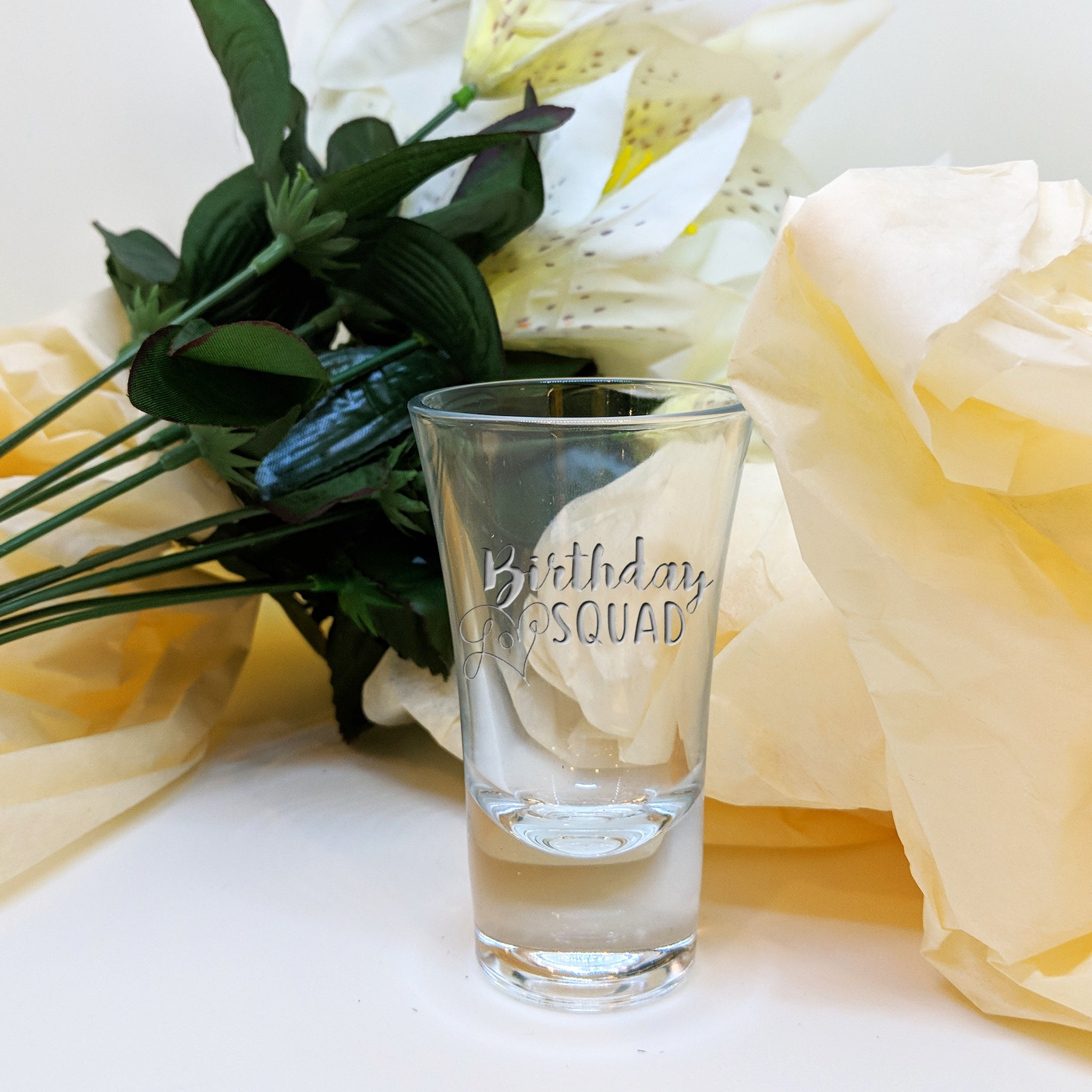 Engraved 30ml Birthday Shot Glass, with Multiple Designs