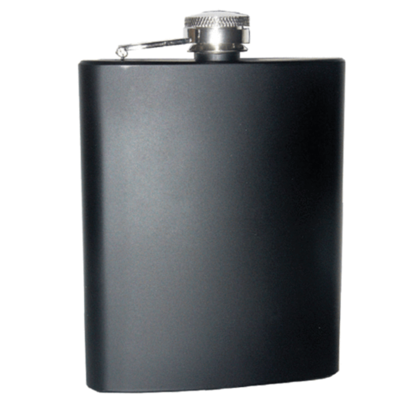 Matt Black 7Oz Stainless Steel Hip Flask Drinkware