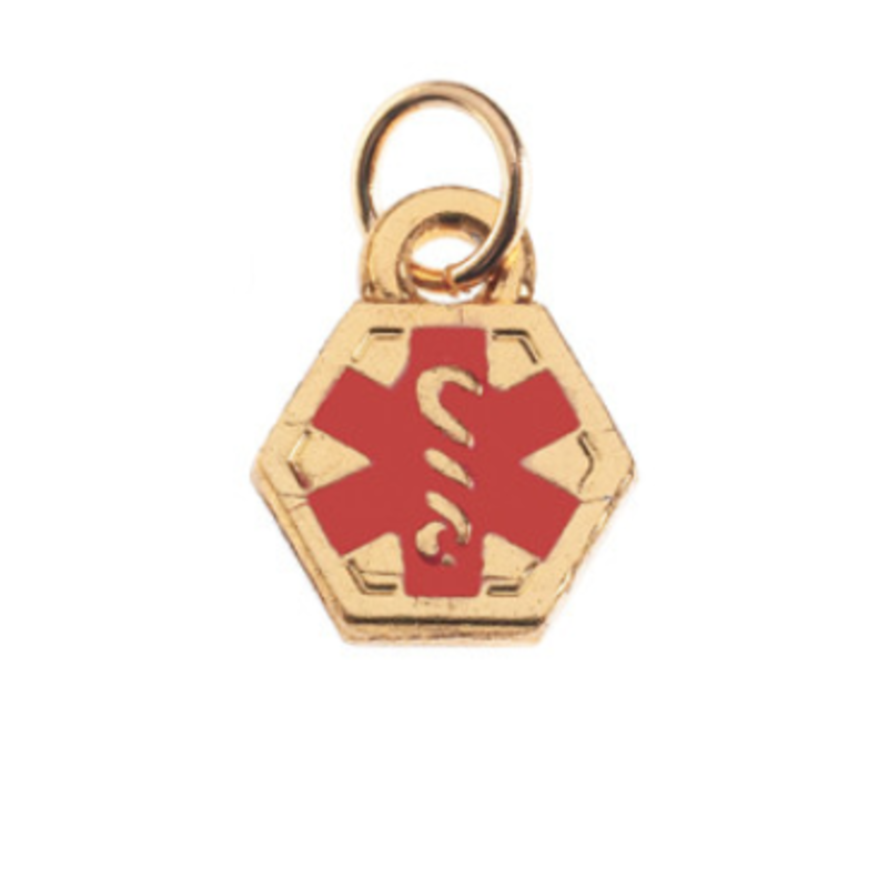 Medical Alert Charm Gold Jewellery & Watches