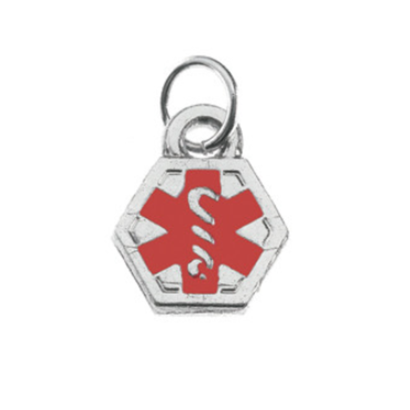 Medical Alert Charm Silver Jewellery & Watches
