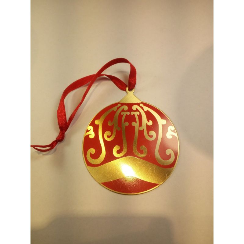 Metal Christmas Ornaments Red Bauble