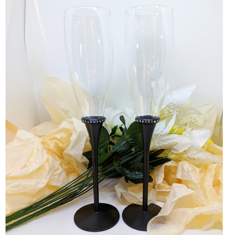Nior Toasting Set With Crystals Drinkware
