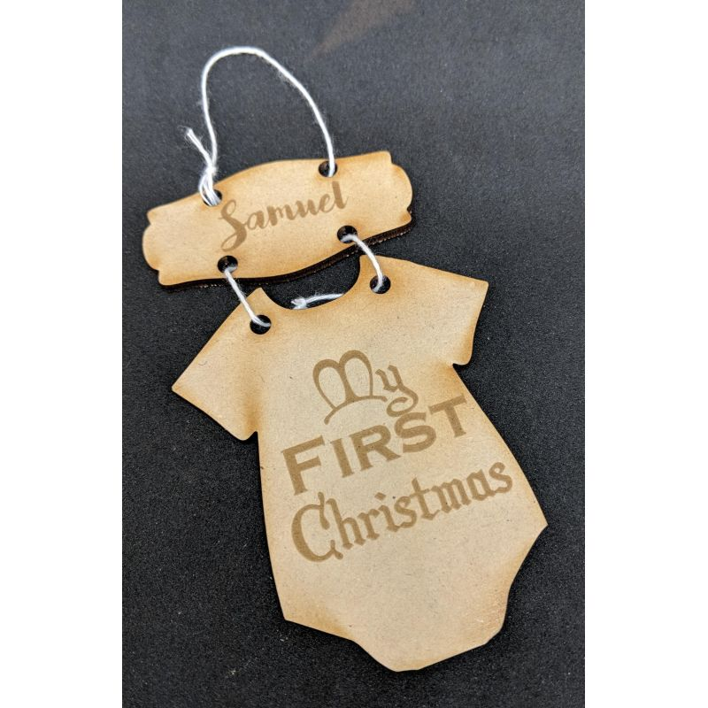 Onesie First Christmas Ornament