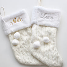 Load image into Gallery viewer, White Personalised Christmas Stockings - Bespoke Baby Co