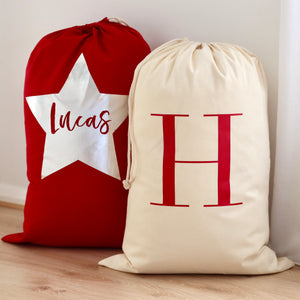 Red Personalised Santa Sack - Bespoke Baby Co