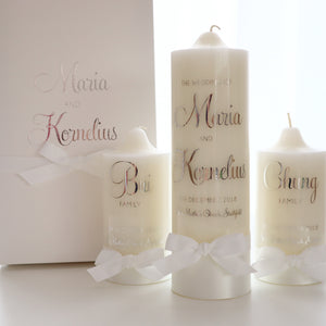 Wedding Unity Candle Set - Bespoke Baby Co