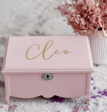 Load image into Gallery viewer, *Pre Order* Pink Jewellery Box - Bespoke Baby Co